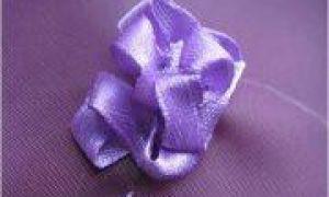 Вышивка лентами и крестом «сирень» подробно и пошагово: бесплатные схемы