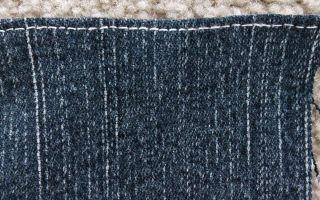 Расширить джинсы в поясе, чтобы увеличить ширину, если стали малы