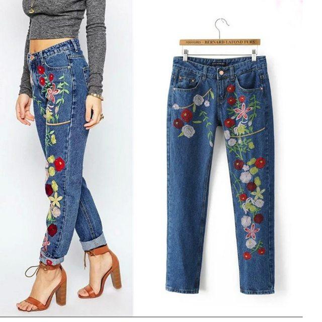 Вышивка на джинсах своими руками: схемы, шаблоны, как вышить сердечко