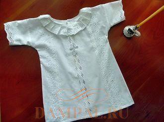 Крестильная рубашка для мальчика: сшить своими руками, выкройка для девочки