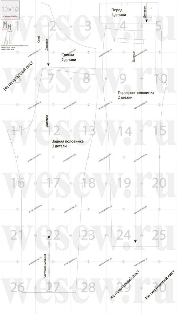 Пошив спецодежды и рабочей униформы: выкройка мужского комбинезона