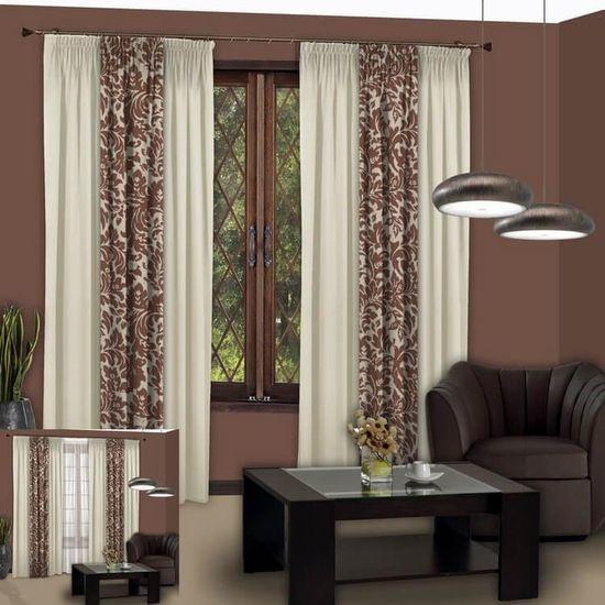 Расчет ткани на шторы: сшить из двух тканей разных цветов своими руками, схемы