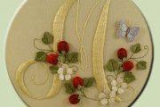 Вышивка гладью для начинающих: как вышивать буквы на ткани вручную