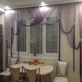 Занавески нити, тюль веревочная или кисея в интерьере на окне, варианты