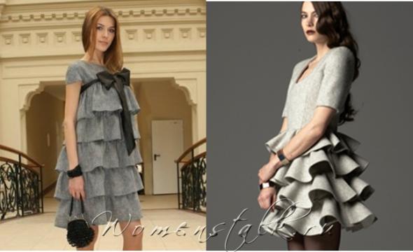 Платье с воланом внизу: выкройка, как сшить своими руками с оборкой