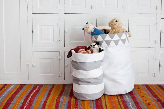 Корзина для игрушек своими руками из ткани: как сшить из джута или фетра