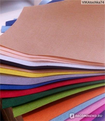 Фетр для рукоделия и творчества (листовой): особенности и характеристика