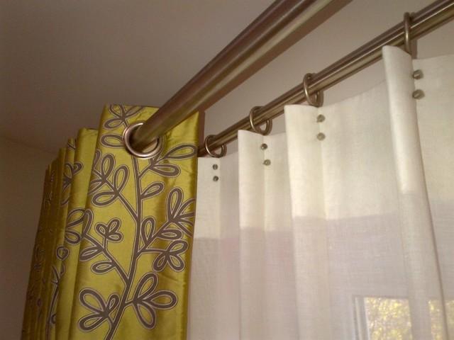 Тюль на люверсах (кольцах): пошив своими руками на кухню или в зал
