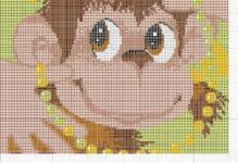 Вышивка «Обезьянка»: радужные животные с выкройками, простые схемы