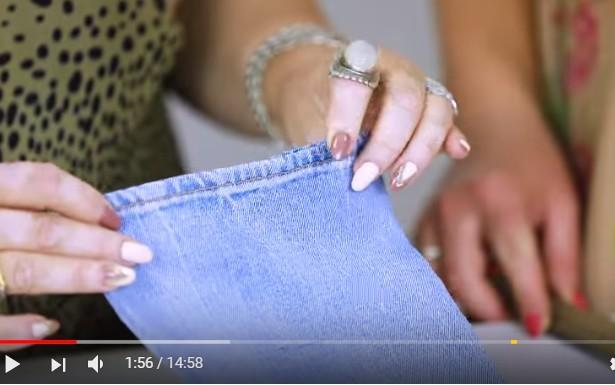 Как подшить джинсы с сохранением фабричного шва вручную и на машинке не обрезая низ