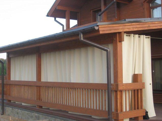 Ткань для уличных штор и мебели, для беседки: водонепроницаемая, акриловая