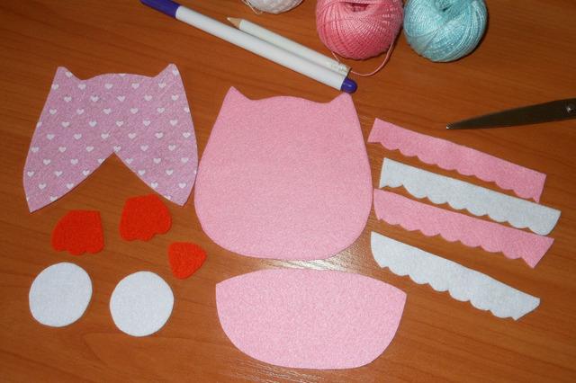 Выкройка совы из фетра: подушка из ткани своими руками для начинающих