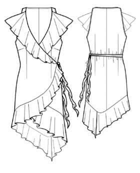 Выкройка платья с запахом: простая, как сшить своими руками для начинающих