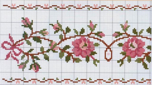 Вышивание: цветы крестом, самые интересные схемы с указанием цветов