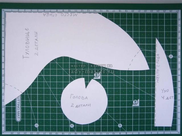 Комфортер: выкройка, зайка с размерами, в натуральную величину, своими руками