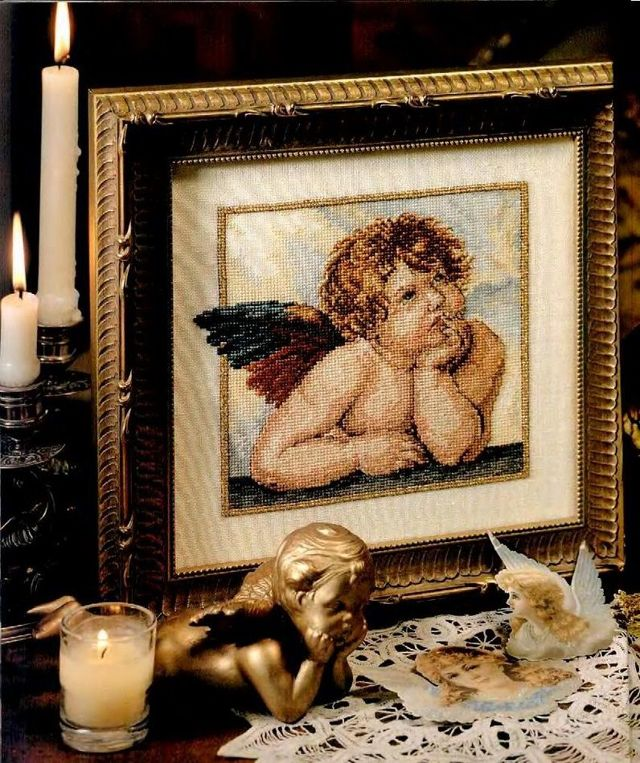 Вышивка ангелочков для беременности: схема «Три ангела» для создания самой