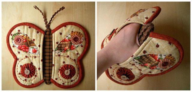 Прихватки своими руками из ткани с выкройками для пэчворка для начинающих