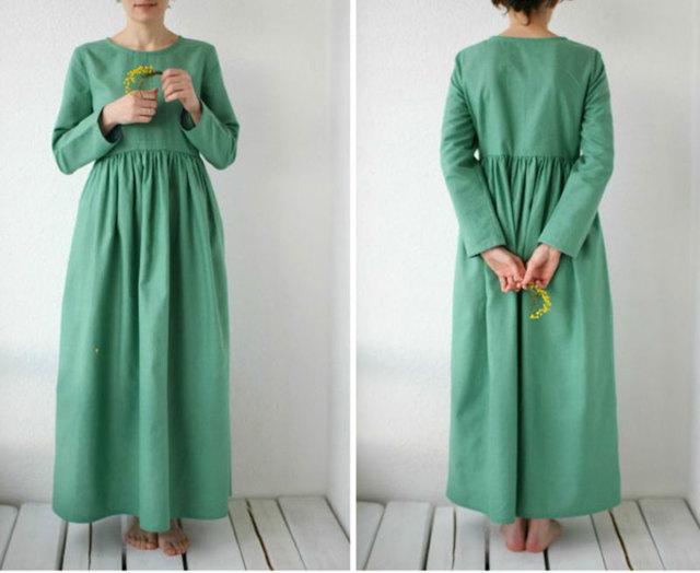 Сарафан бохо: выкройка в стиле, своими руками из льна, для женщины 50 размера