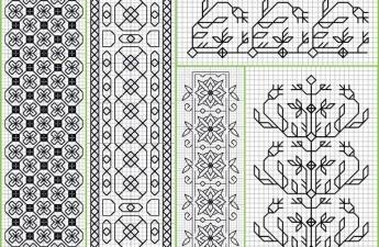 Блэкворк вышивка: схемы в технике blackwork, наборы с описанием процесса