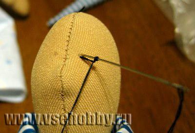 Как вышить глаза вязаной кукле или игрушке нитками мулине: мастер класс