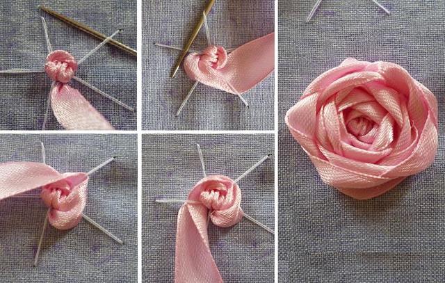 Вышивка с лентами: розы, мастер класс для начинающих пошагово, самые шикарные