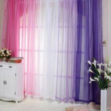 Ткань вуаль для штор на окнах: занавески на кухню и цветы своими руками из него