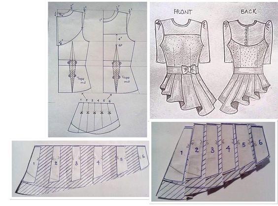 Выкройка с баской: как сшить своими руками блузку, топ, платье самостоятельно