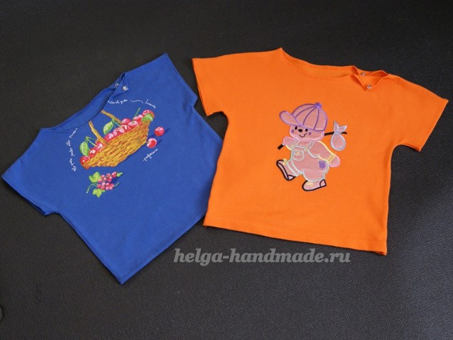 Выкройка детской футболки для мальчика и для девочки из трикотажа