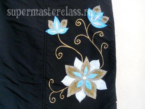 Роспись по ткани: акриловыми красками, как рисовать, для начинающих