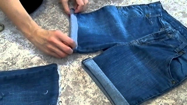 Шорты из старых джинсов своими руками: как сшить, подшить, с подворотом