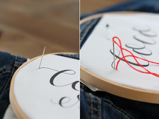 Как на ткани вышить буквы: создание инициалов, имя или надписи на одежде