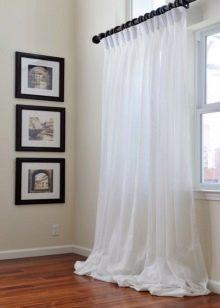 Белый тюль с рисунком или без: как выбрать ткань и дизайн внешнего вида