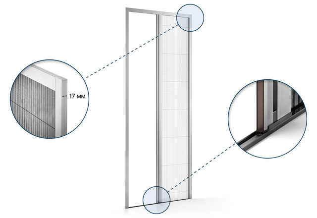 Сетка плиссе (москитные): особенности тканей и применение на окнах