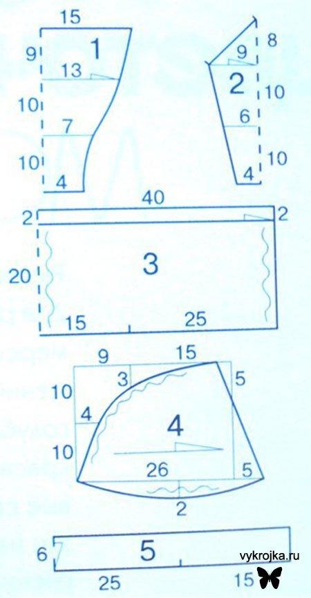 Как сшить купальник своими руками: выкройка раздельного и слитного