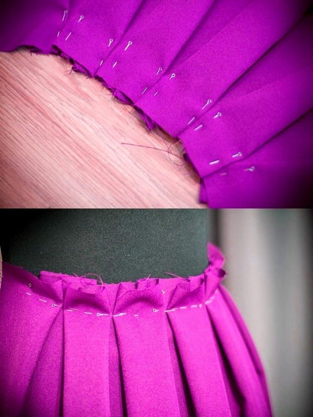 Юбка в складку: сшить своими руками, выкройка и описание пошагово