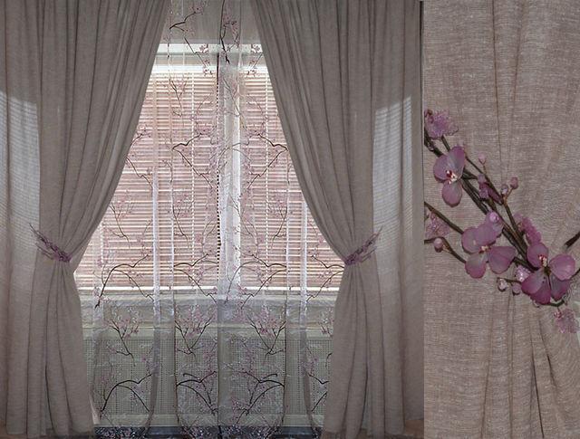 Тюль лен: льняная ткань для штор и ее имитация, применение в интерьере