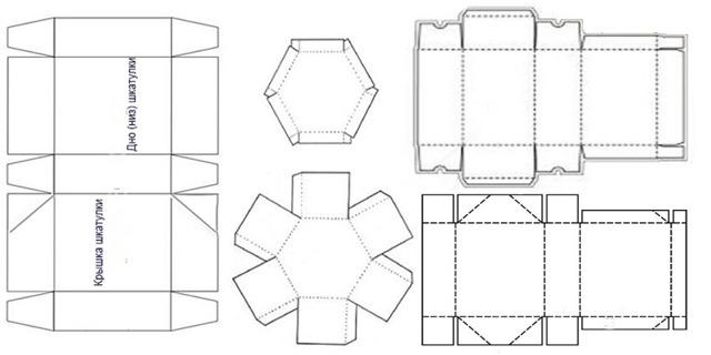 Шкатулка: выкройки в натуральную величину, пошаговая инструкция изготовления своими руками