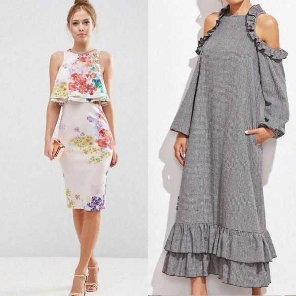 Платья А силуэта: выкройка юбки для полных без рукавов с воланом внизу