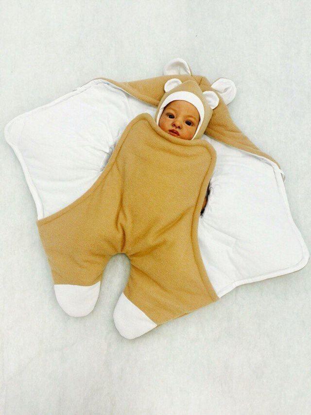 Выкройка комбинезона для новорожденного: как сшить своими руками с капюшоном