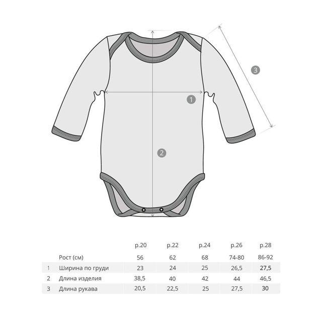 Выкройка боди для малыша: слипа для новорожденного, в натуральную величину