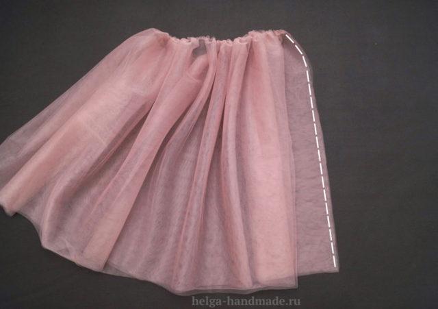 Как сшить своими руками юбку из фатина на резинке, пошагово, для девочки